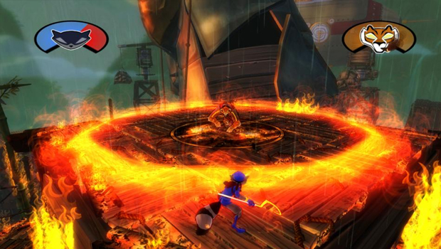 Sly Cooper, Thieves In Time, Screenshot, Wild West, Västern, Boss Fight