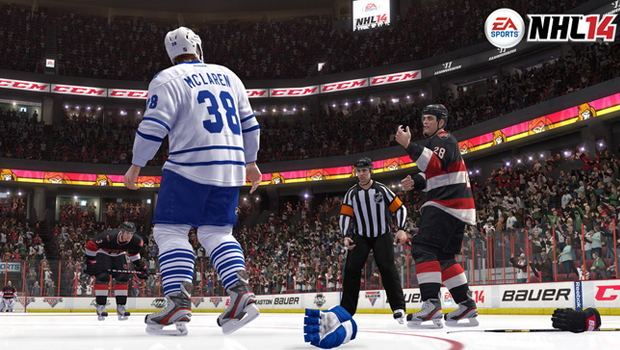 NHL 14, EA, Recension, Review, Hockey, Xbox 360, PS3, fight